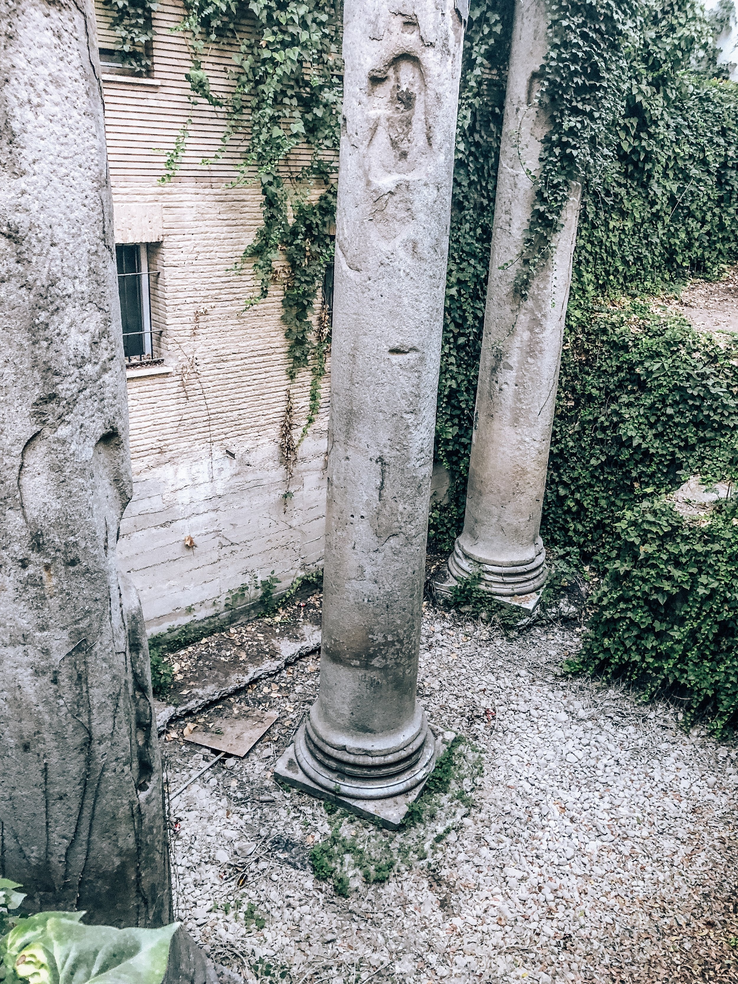 Authentic Roman columns of Seville