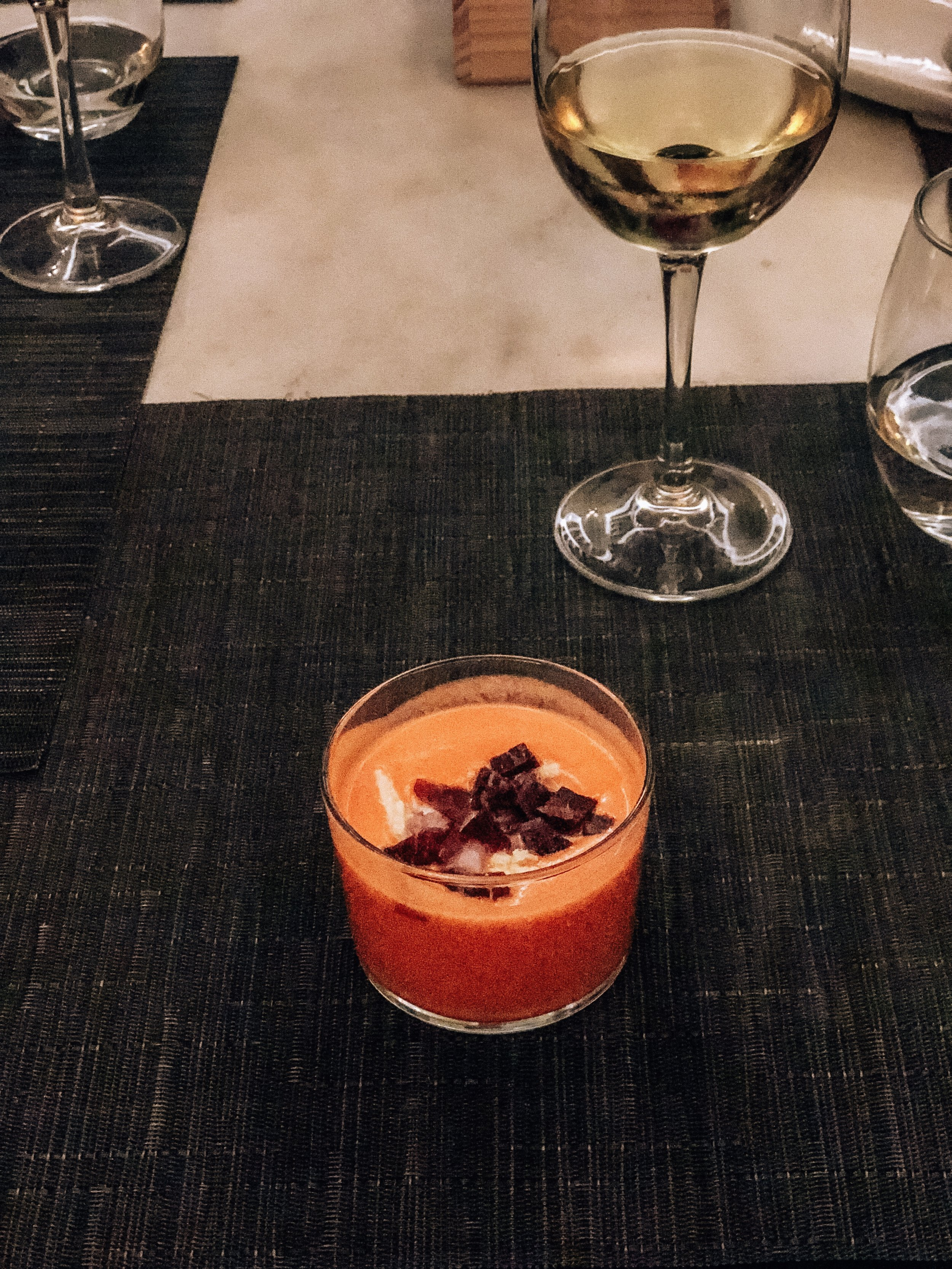 Discovered one of my favorite dishes of all times! Salmorejo, a cold tomato soup and oh so delicious!
