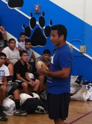 Wellness Training High School Football Team -Fidel Rodriguez