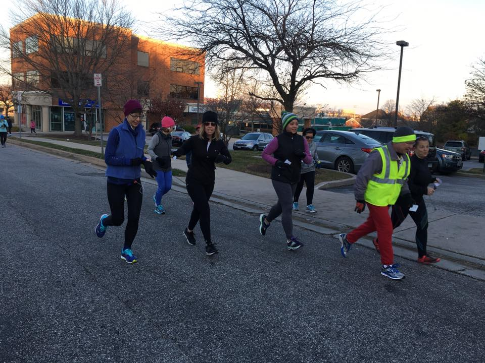 Our Winter 10K training group heads out for a hill workout!