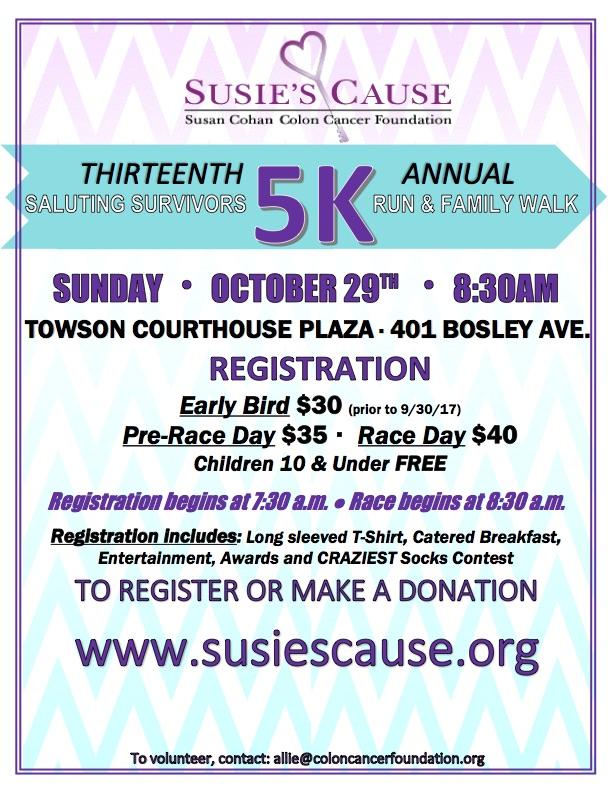 13th Annual Susie S Cause 5k Run And Family Walk Charm City Run