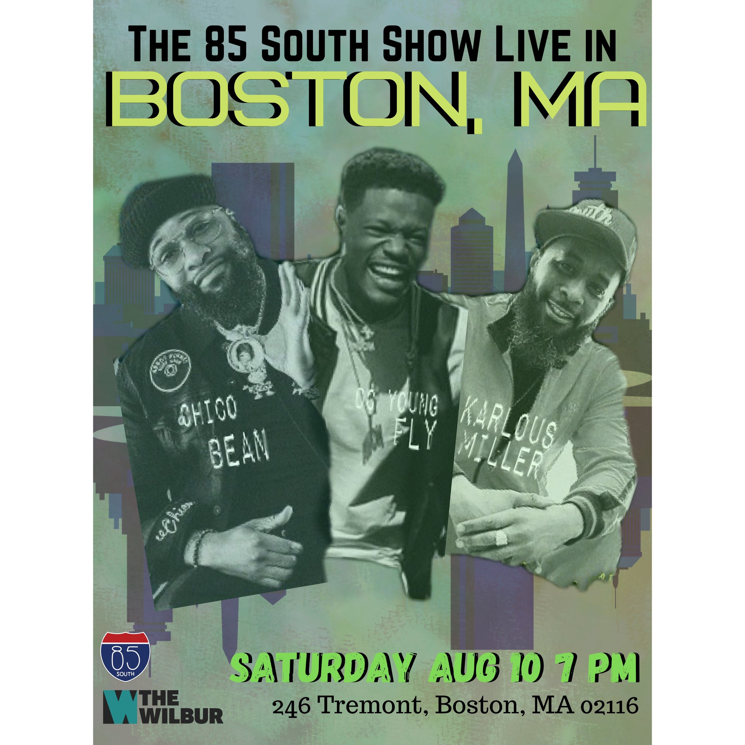 Coming to a city near you ...  🎟️🎟️🎟️*85 South Show Live 2019 Dates*🎟️🎟️🎟️     8.9 - Mashantucket, CT 8.10 - Boston, MA *2nd Show Almost Sold-Out! *  8.17 - Tampa, FL 8.18 - Orlando, FL  8.23 - San Antonio, TX 8.24 - San Antonio, TX 8.25 - Dallas, TX                                                                                                                                   8.30 - Shreveport, LA  9.31 - Little Rock, AR                                                                                                                            9.1 Birmingham, AL