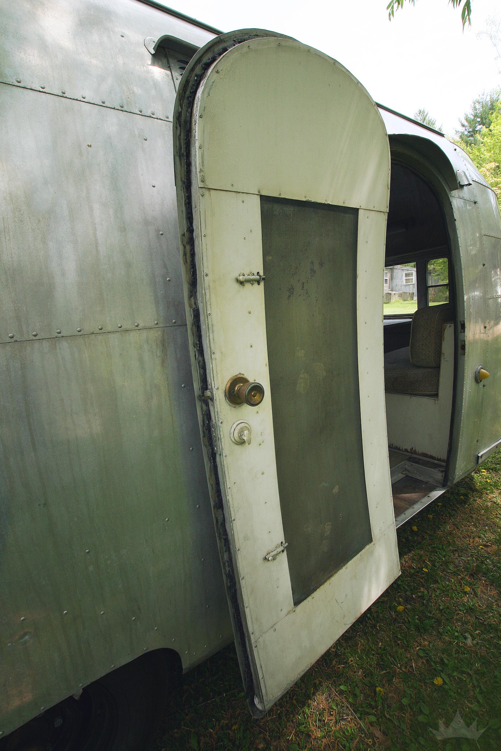 The door when we got it, 3+ coats of paint ago.