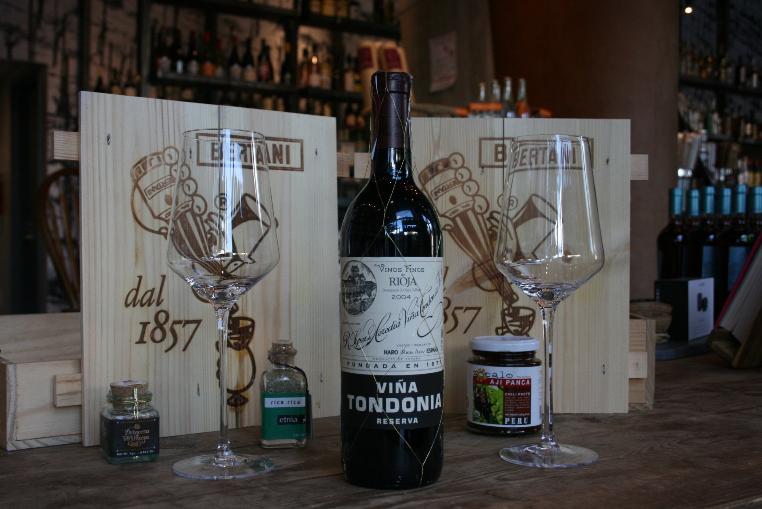 Viña Tondonia Rioja - 2004 - Likely to have sediment, and not so old as to be fragile, so decanting is preferred. This same wine in 15 years, you would want to research whether to decant as you may loose the bouquet by doing so, or throw off the wine's delicate structure.