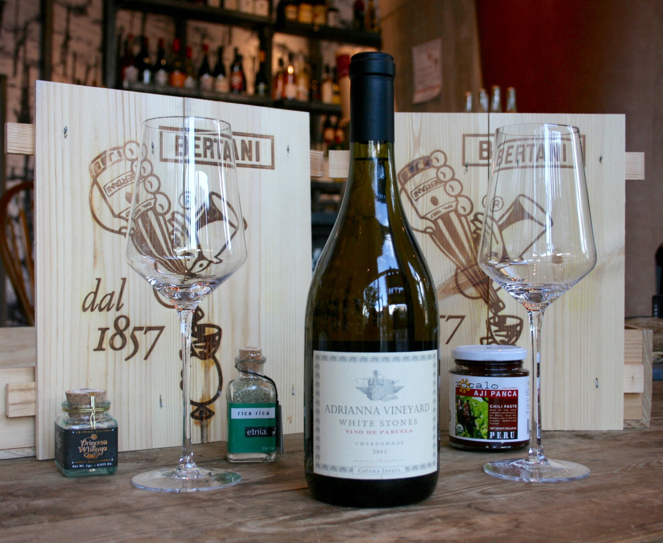 """Adrianna Vineyard """"White Stones"""" - Chardonnay 2012 - As a bold, rich white with some age to it, this wine should breath. As a white, it will have no sediment. Decanting not recommended, since it will be difficult to keep the wine chilled once in the decanter."""