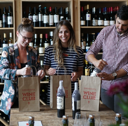 Catadores Claire, Rachel, and Alex having a blast packing up your Wine Club!!!
