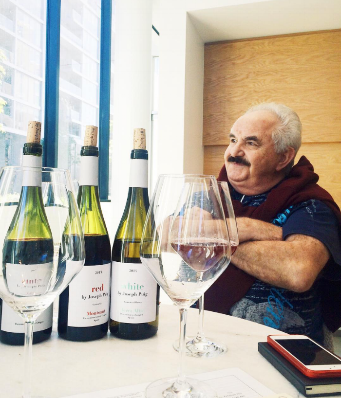Mr. Puig visiting Washington, DC in 2015 presenting his wines to co-founders Pedro and Julio.