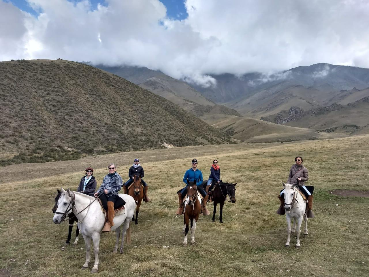 Horseback riding in the ANDES!