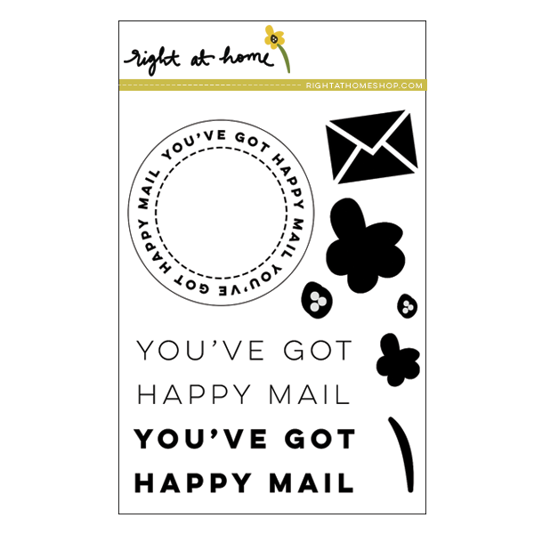 """Holiday Gift Guide // For the Crafty: Right at Home """"Happy Mail"""" Stamp - Right at Home Shop"""