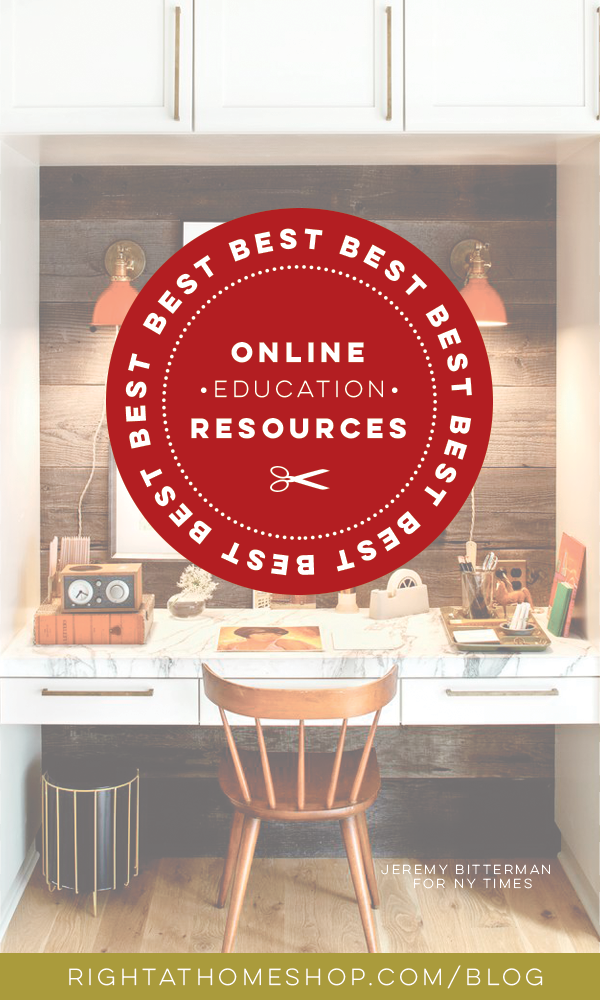 Best Online Education Resources // For All Things Creative - Right at Home Shop