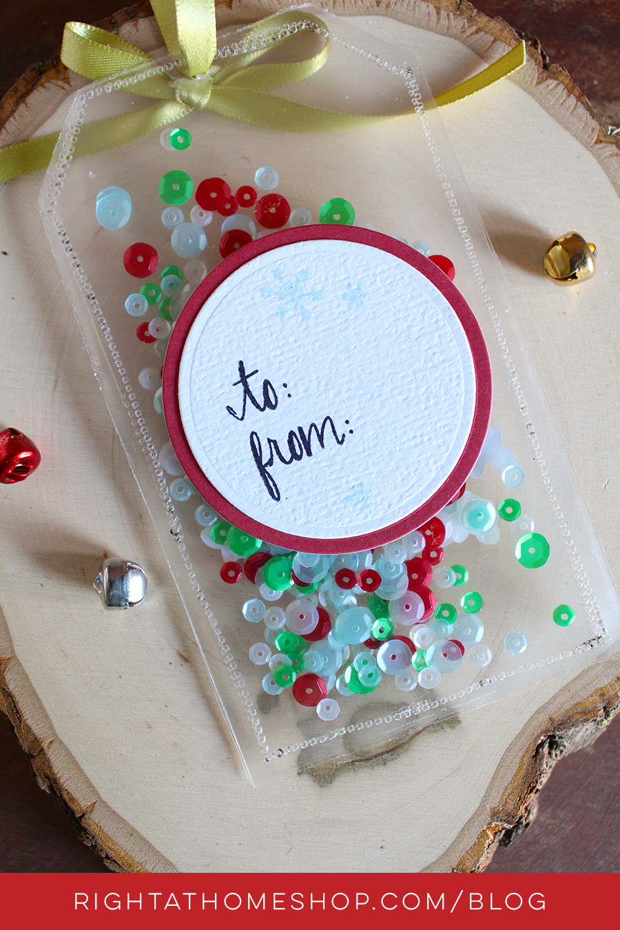 DIY Shaker Gift Tag Using the Fuse + Pretty Pink Posh - Right at Home Shop