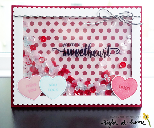 You're a Sweetheart Shaker Card by Yuki // Right at Home Design Team - Right at Home Shop