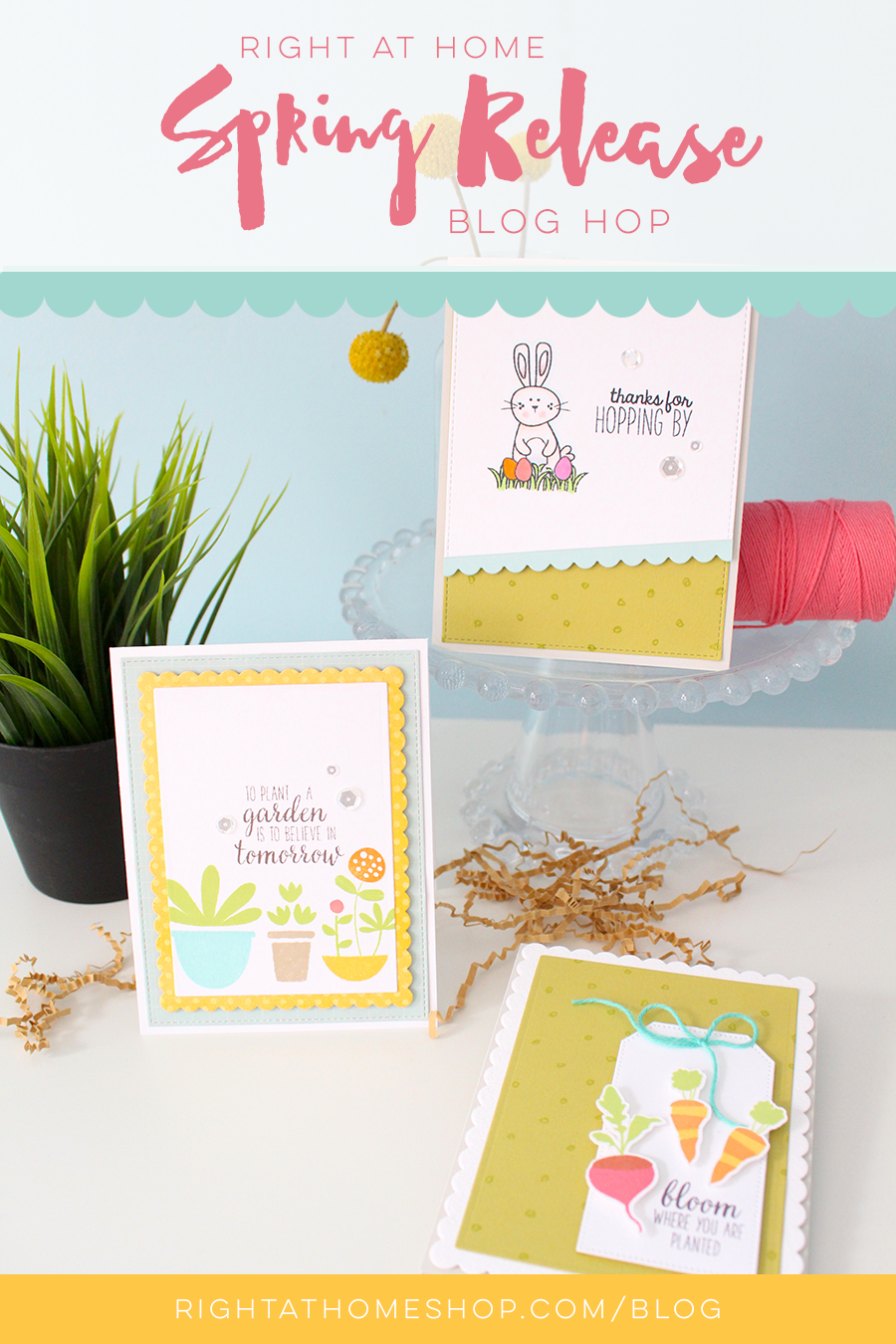 Right at Home Spring Release Blog Hop - New stamps + embellishments are now available on Right at Home Shop