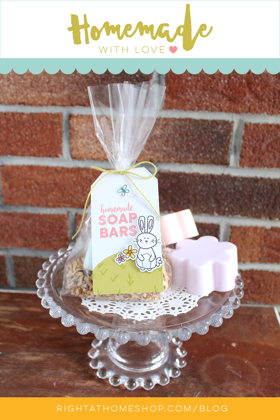 DIY Hand Soap Bars + Gift Tag // Homemade with Love Series Day #1 - rightathomeshop.com