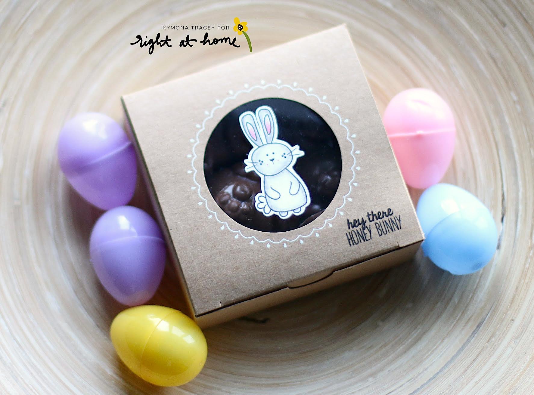 DIY Chocolate Bunny Gift Boxes by Kymona // Homemade with Love Day #2 - rightathomeshop.com/blog