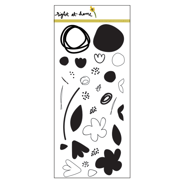 Right at Home Stamps // Abstract Florals - rightathomeshop.com