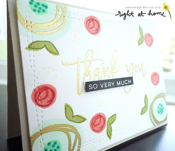 Abstract Florals + Script Greetings Thank You Card by Yuki // Right at Home March Release - rightathomeshop.com/blog