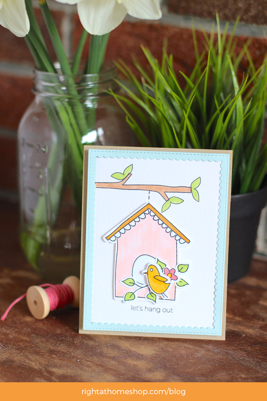 Let's Hang Out Card by Nicole // Right at Home April Release - rightathomeshop.com/blog