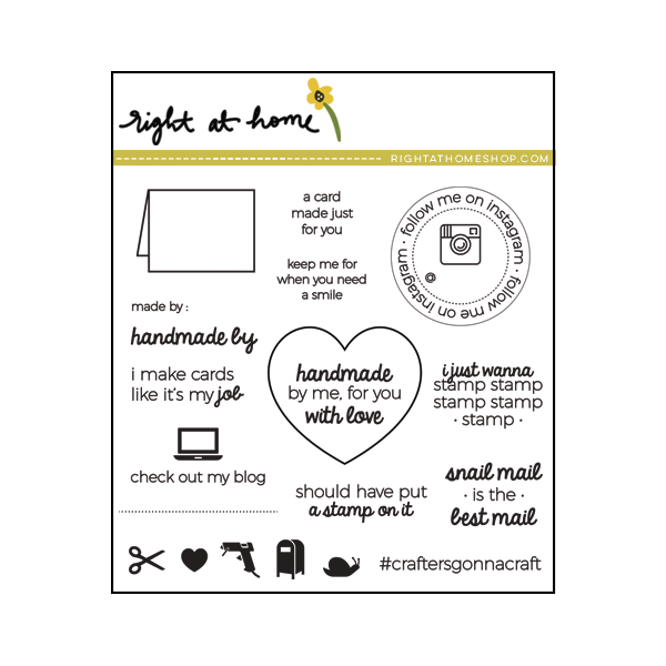 Right at Home Stamps April Release Now Available // Handmade By (4 in x 4 in) - rightathomeshop.com/blog
