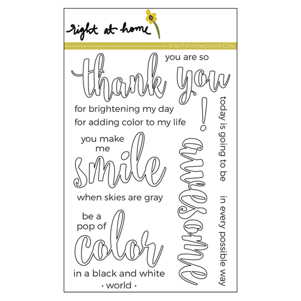 Right at Home Stamps April Release Now Available // Color In Sentiments (4 in x 6 in) - rightathomeshop.com/blog