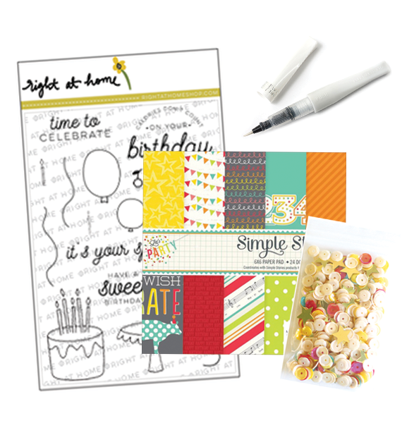 May Stamped & Sealed Craft Box Now Available // Let's Party - rightathomeshop.com