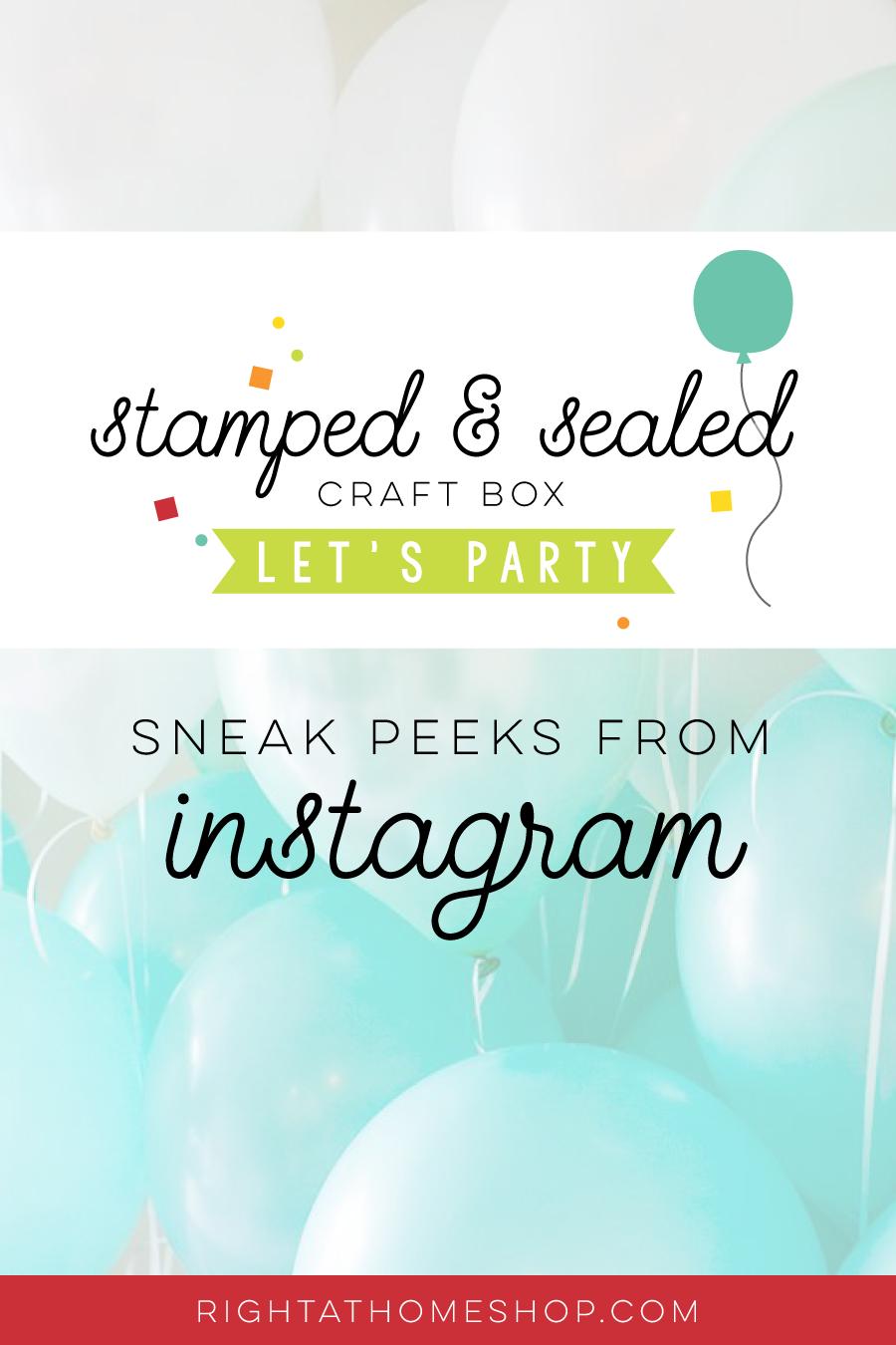 May Stamped & Sealed Craft Box // Instagram Sneak Peeks - @kreativekymona + @amykolling