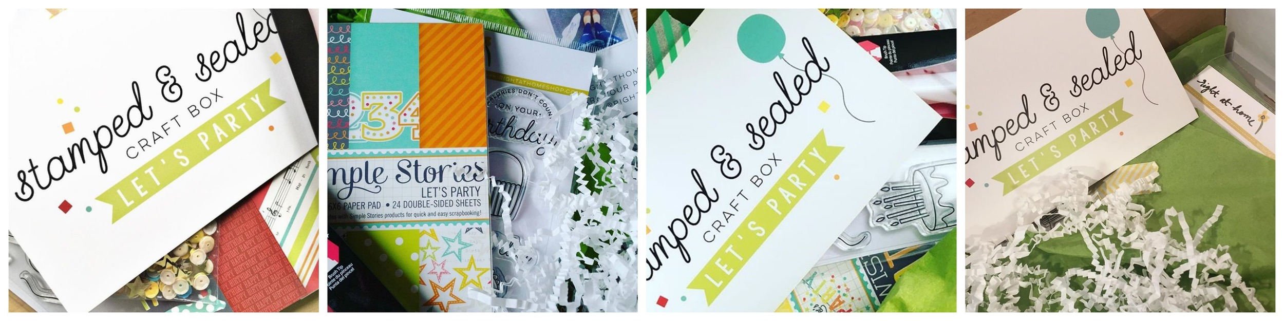 May Stamped & Sealed Craft Box Now Available // Let's Party - Design Team Sneak Peeks