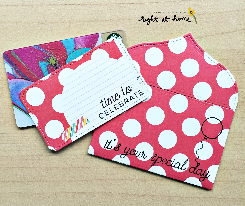 DIY Gift Card Envelopes by Kymona // May Stamped & Sealed Craft Box - rightathomeshop.com/blog