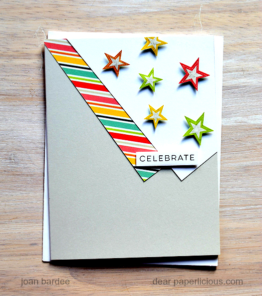 Celebrate Card by Joan // May Stamped & Sealed Craft Box - rightathomeshop.com/blog