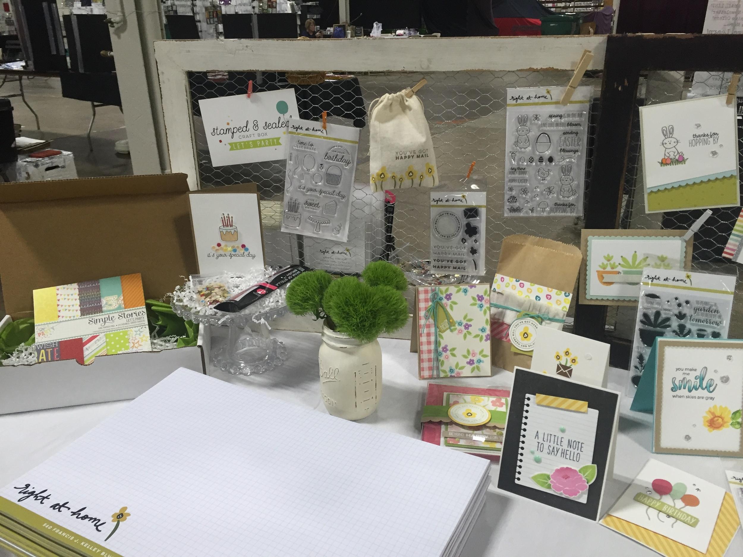 My First Vendor Show // Heirloom Productions Stamp Show 2016 - rightathomeshop.com/blog