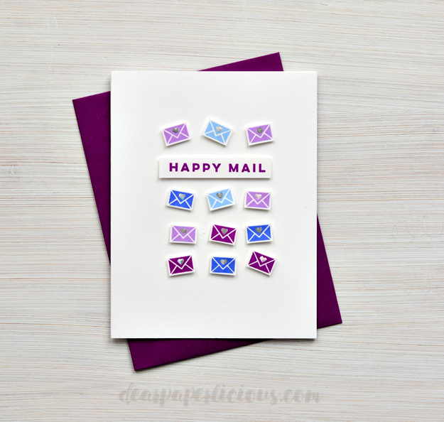 Happy Mail Year 2 Card by Joan // rightathomeshop.com/blog