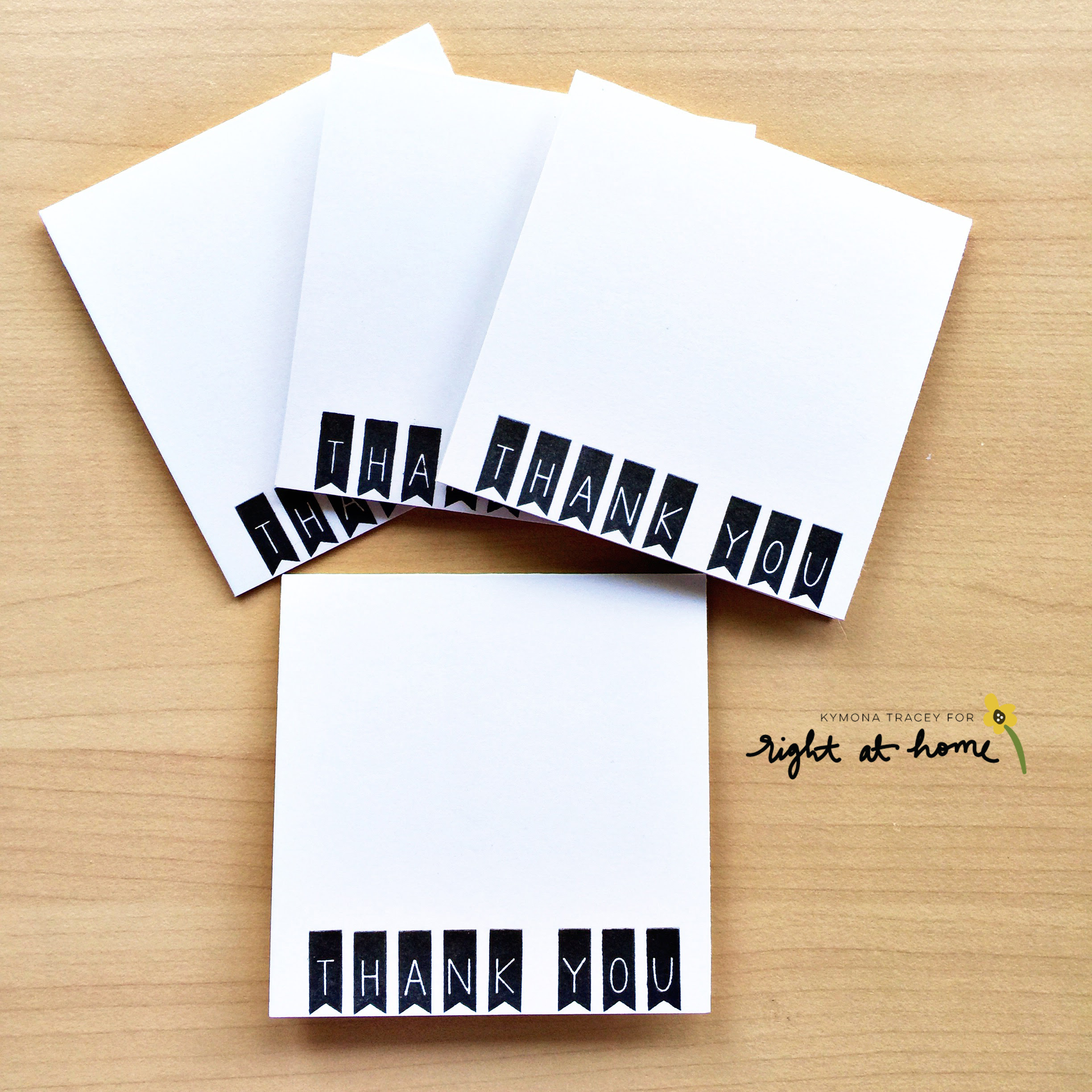 Clean + Simple Thank You Notecard by Kymona // rightathomeshop.com/blog
