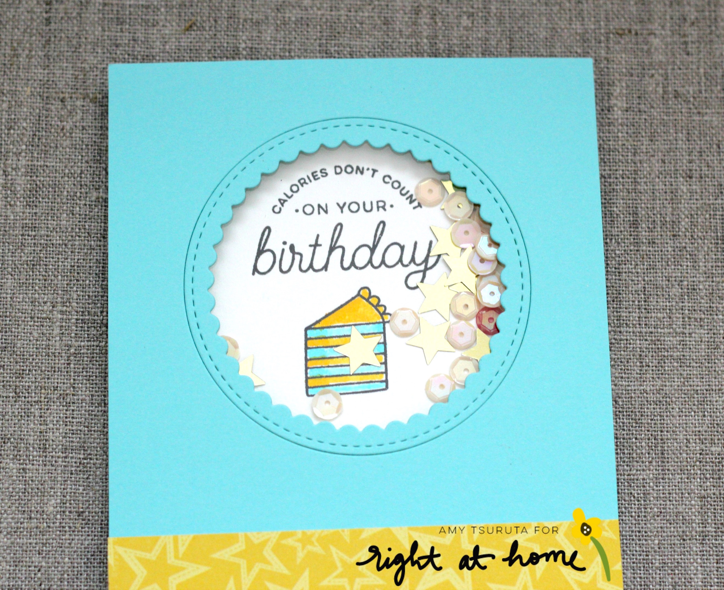 Calories Don't Count on Your Birthday Card by Amy // rightathomeshop.com/blog