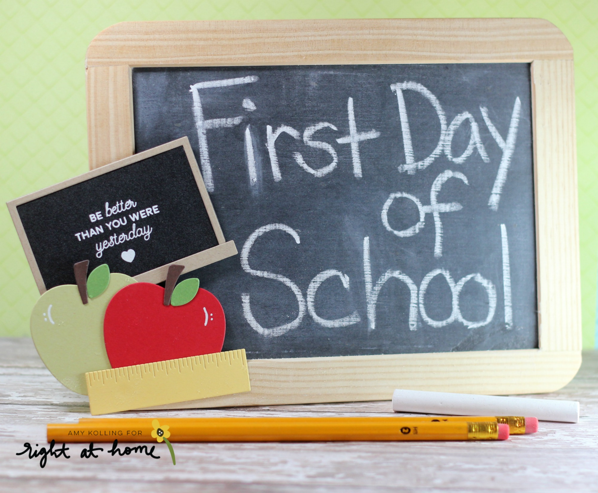 DIY First Day of School Chalkboard Sign // Back to School with Right at Home - rightathomeshop.com/blog