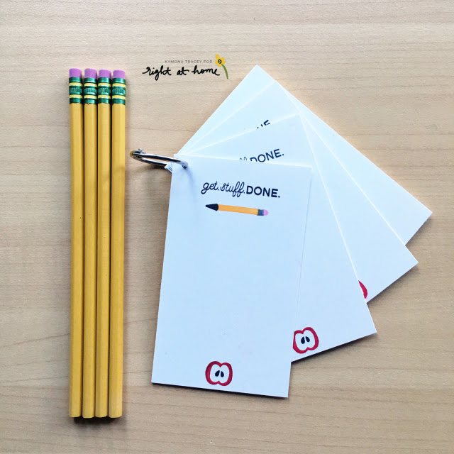 DIY Notecard Ring // Back to School with Right at Home - rightathomeshop.com/blog