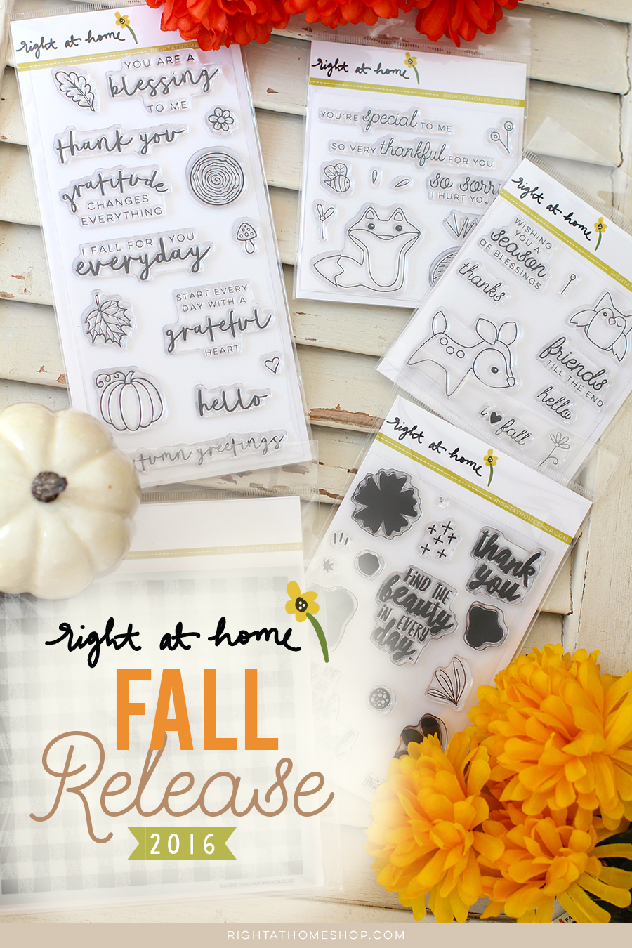 Right at Home Stamps Fall & Holiday 2016 Release Now Available // rightathomeshop.com