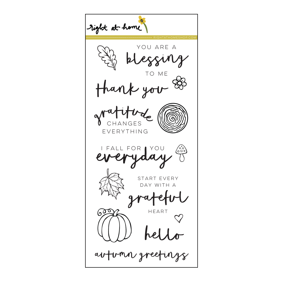 Right at Home Stamps // Grateful Heart