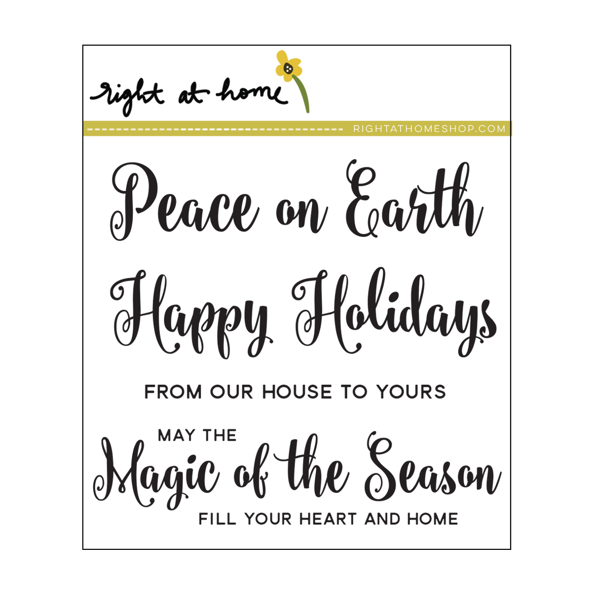 Right at Home Stamps // Magic of the Season
