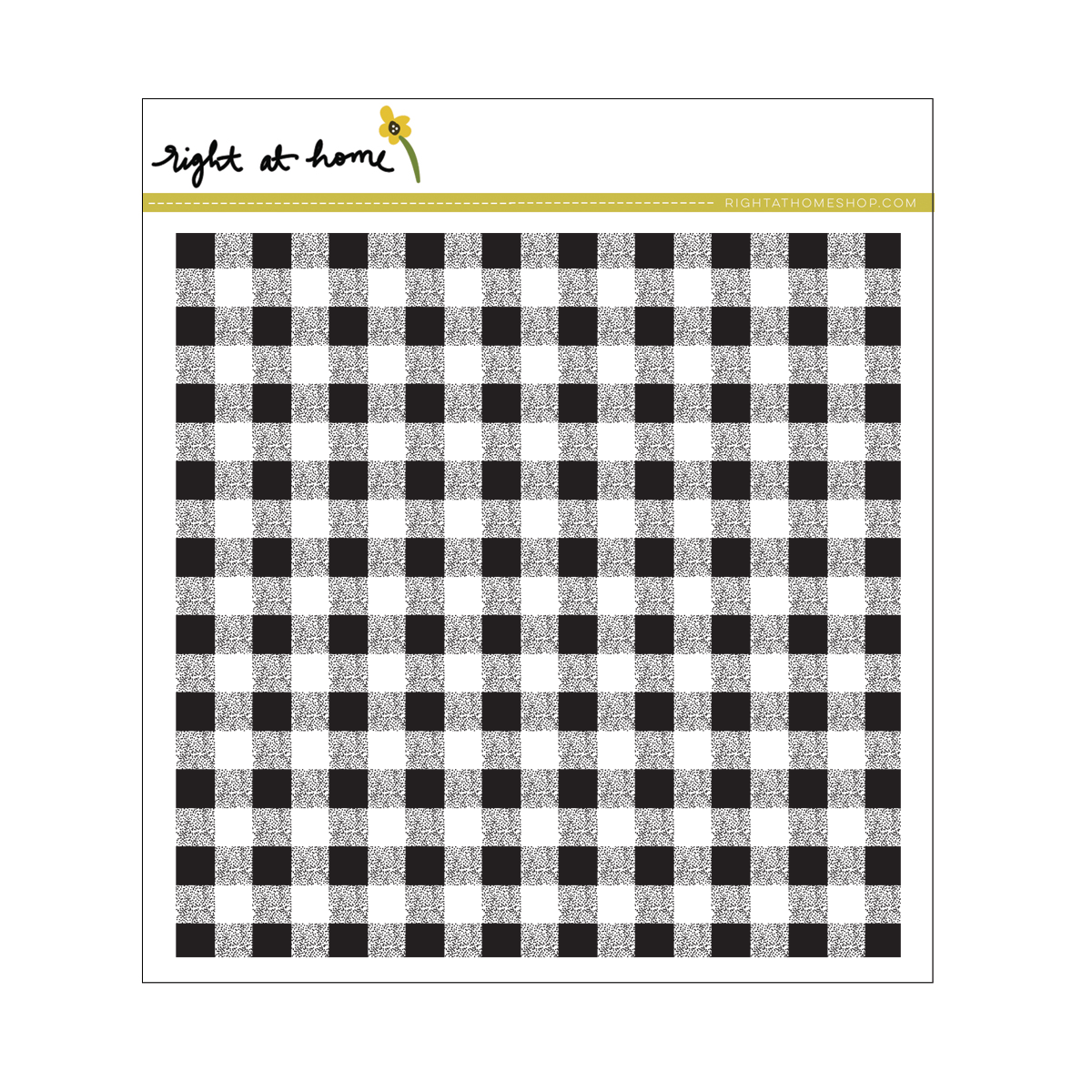 Right at Home Stamps // Gingham Background Stamp