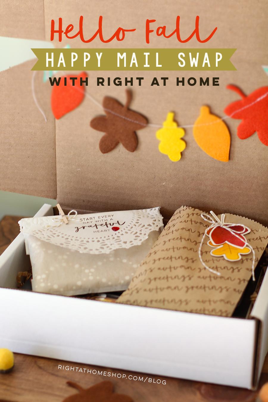 Hello Fall Happy Mail Swap Packaging Ideas by Nicole // rightathomeshop.com/blog