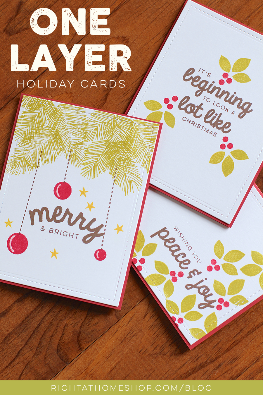 Simple One Layer Holiday Cards // rightathomeshop.com/blog