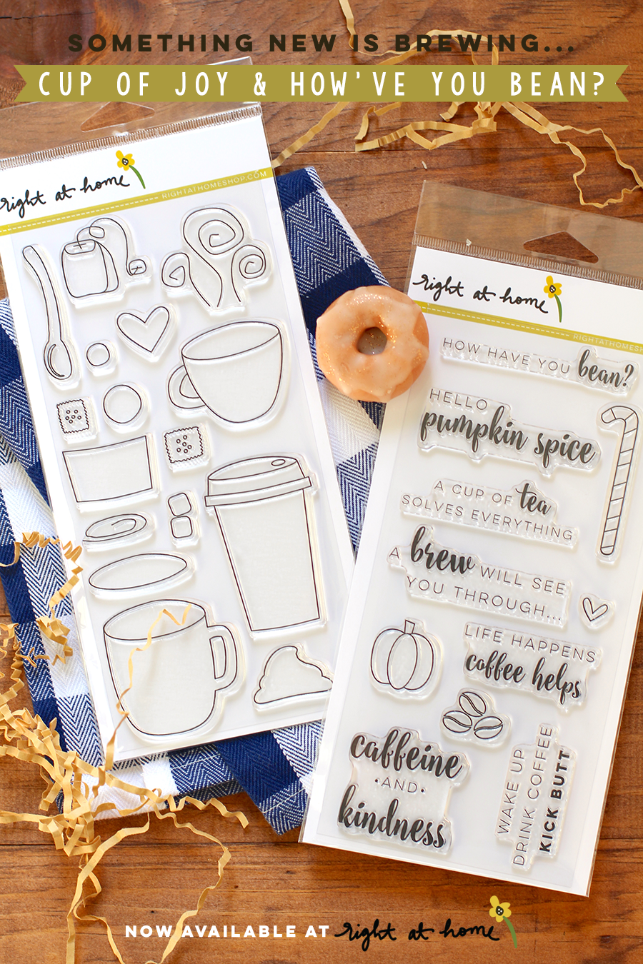 Right at Home Stamps New Release // Cup of Joy + How Have You Bean? - rightathomeshop.com