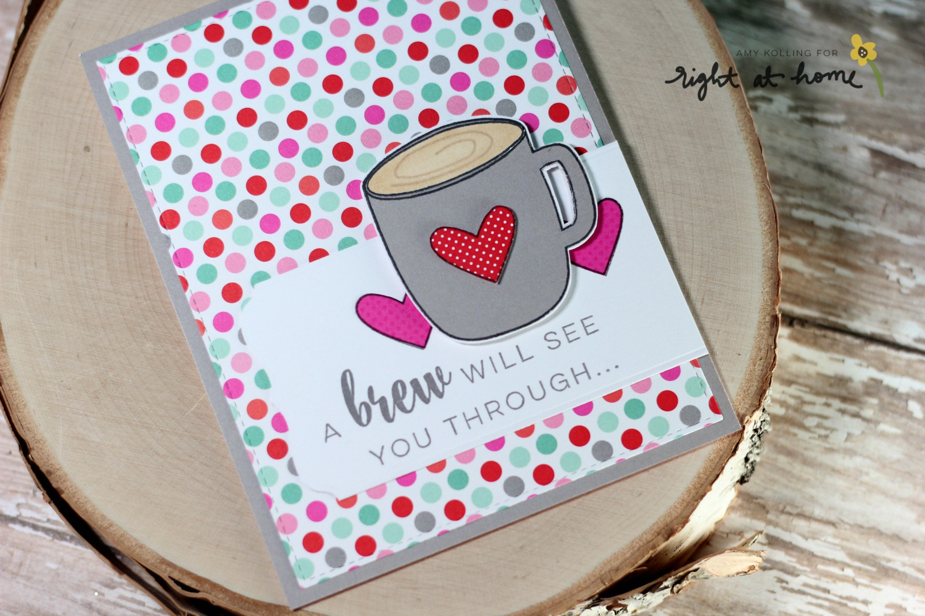 A Brew Will See You Through Card by Amy K. // RAH Stamps Cup of Joy Release - rightathomeshop.com/blog