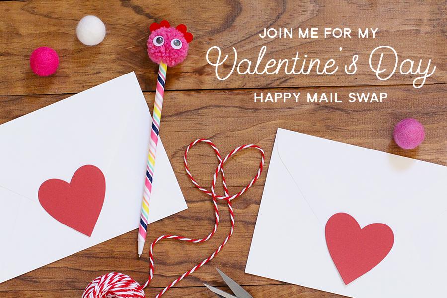 Valentine's Day Happy Mail Swap // 2017 - rightathomeshop.com/blog