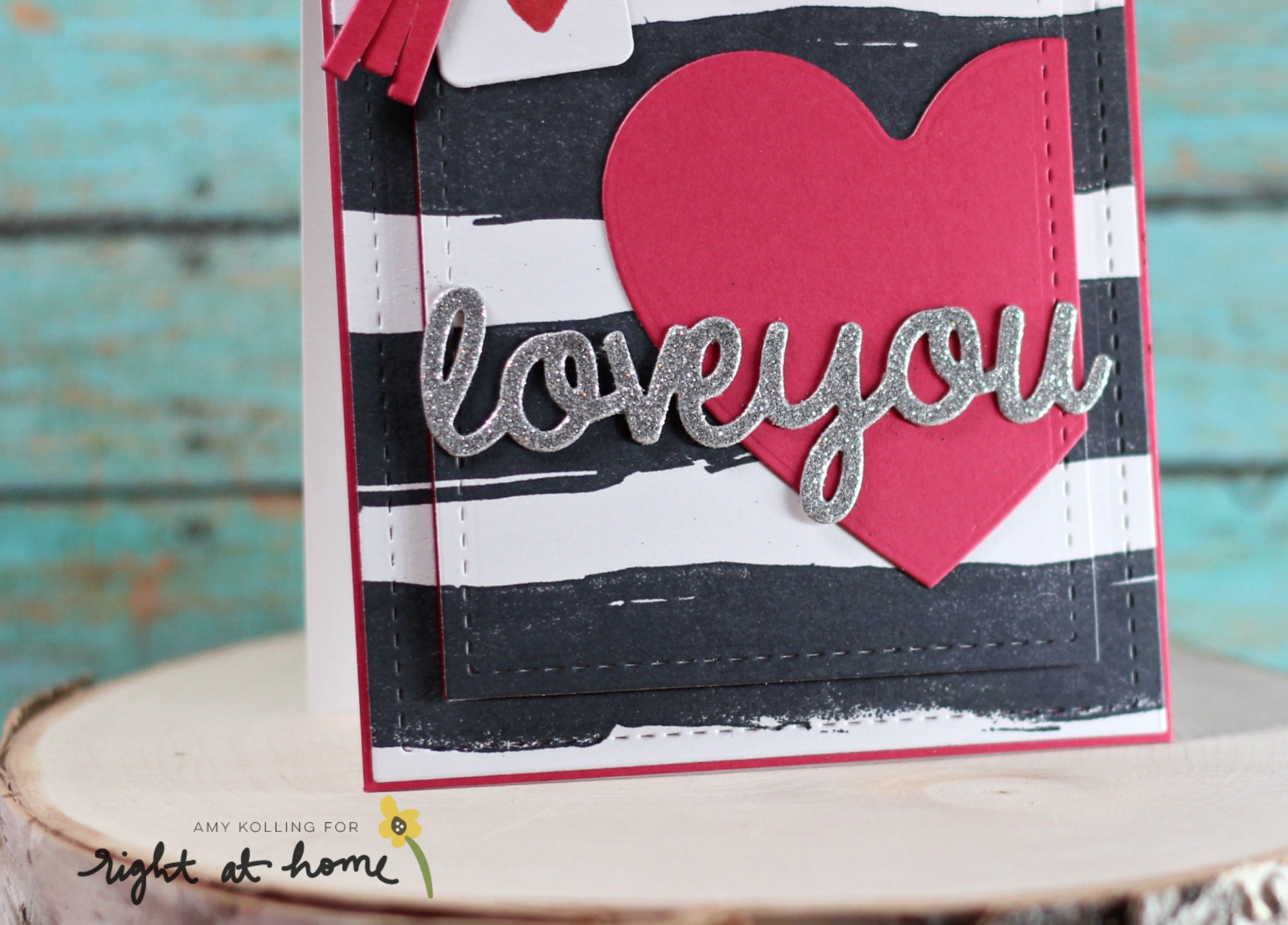 Love You Card by Amy K. // RAH Stamps Be Mine Release - rightathomeshop.com/blog