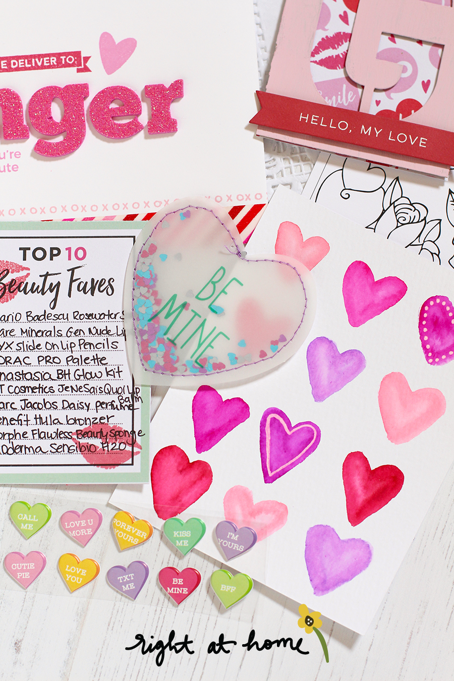 Valentine's Day Happy Mail Swap Content Ideas by Nicole // rightathomeshop.com/blog