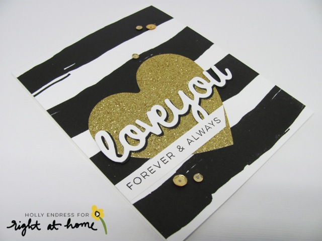 Valentine's Day Happy Mail Swap Love You Card by Holly // rightathomeshop.com/blog
