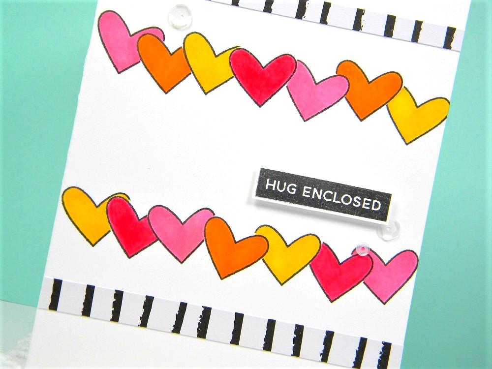 Hug Enclosed Card by Melissa // rightathomeshop.com/blog