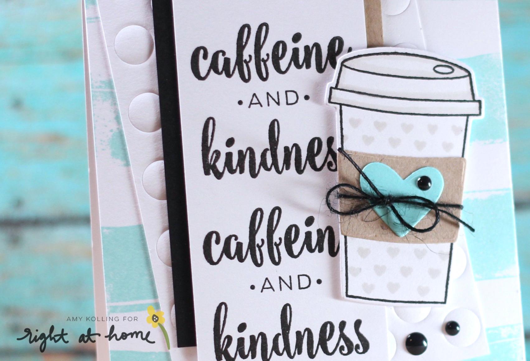 Caffeine & Kindness Card by Amy K. // Gilmore Girls Inspired Post Week - rightathomeshop.com/blog