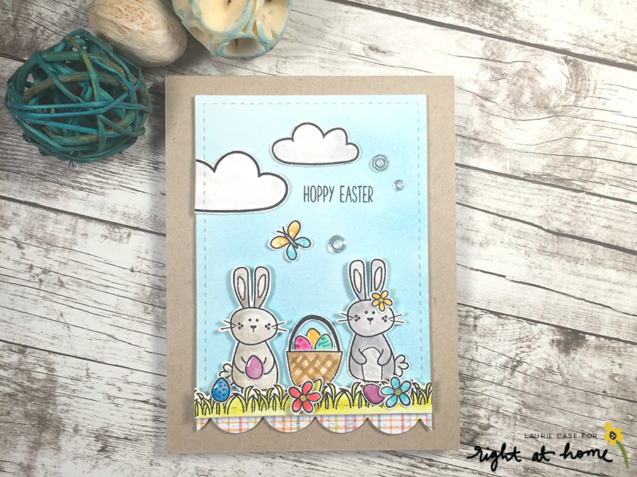 Hoppy Easter Watercolor Card by Laurie C. // rightathomeshop.com/blog